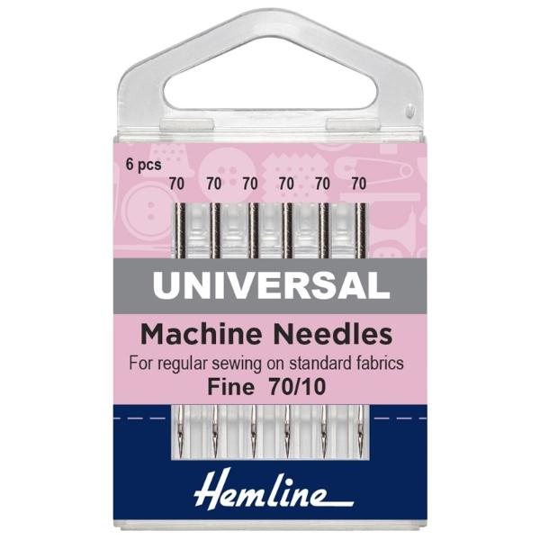 Hemline Machine Needles Fine Size 70