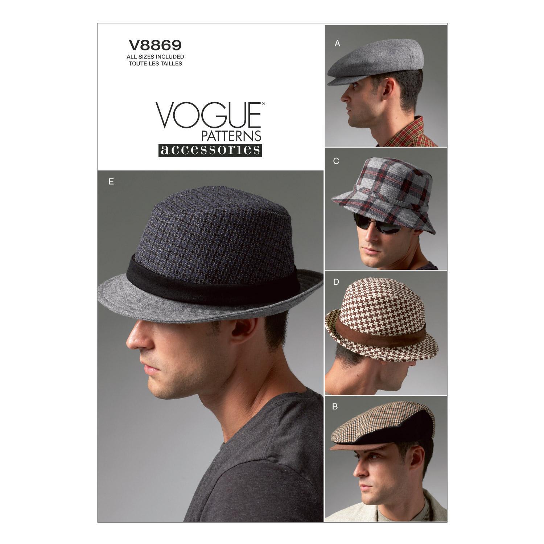 Vogue V8869 Mens Hats Pattern Ba7686 Fashion N Fabrics